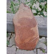 Песчаник пластушка красная галтованная фото