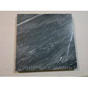 Плитка черная мраморная 300х300х20мм,300х200х20мм. фото