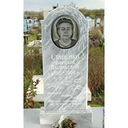 Памятник из мрамора на могилу фото