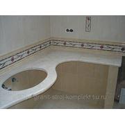 Cтолешница из камня для ванной комнаты фото
