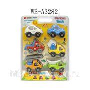 Набор из 6-ти грузовиков, пластмасса, на блистере, 21,5х7х28см (823772) фото