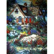 Панно из мозаики — Сказочный домик фото