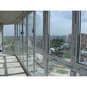 Остекление лоджий и балконов фото