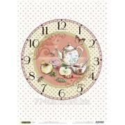 Карта рисовая Часы чаепитие фото