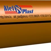 Труба ПЭ 100 63x4,0 рифлёная изнутри.; оранжевая фото