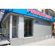 Вентилируемые фасады, отделка магазинов, кафе, офисов. фото