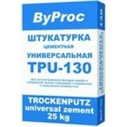 Штукатурка универсальная ByPROC морозостойкая TPU-130 W , 25 кг фото