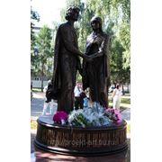 Скульптурная композиция Петр и Феврония фото