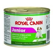 Mini Junior Royal Canin корм для щенков, От 2 до 10 месяцев, Банка, 0,195кг фото