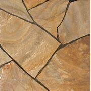 Натуральный камень песчаник бежевый тигровый фото