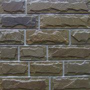 Плитка из натурального камня песчаника серо-бурого с заколом скоба 100 мм фото