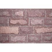 Плитка из лемезита вишневая для облицовки стен. фото