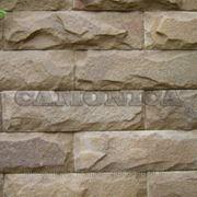 Плитка из натурального камня песчаника бежевого скоба 100 мм фото