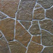 """Натуральный камень песчаник серо-бурый, поверхность """"рыбка"""" фото"""