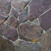 Камень фасадный сланец уральский фиолетовый фото