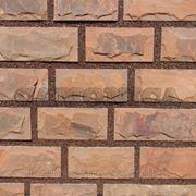 Плитка из натурального камня песчаника красного отожженного скоба 100, 140 мм фото