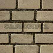 Плитка из натурального камня песчаника серо-бурого скоба 100 мм галтованный фото