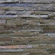 Натуральный камень лапша песчаник серо-бурый фото