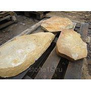 Бутовый камень желтый(ПЕСЧАНИК) фото