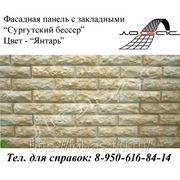 Фасадная панель «Сургутский бессер», цвет «Янтарь» фото