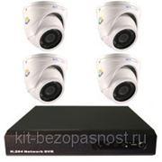 4-х канальный комплект видеонаблюдения фото