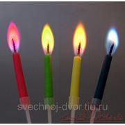 Свеча с цветным пламенем 12 шт/уп. фото