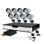 Готовый комплект: 16-канальный DVR + 8 уличных цветных CCD ИК-камер + кабели + 1TB HDD фото