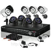 Готовый комплект: 16-канальный DVR + 8 CCD (4 ул.+ 4 внутр.) ИК-камер + кабели + 1TB HDD фото