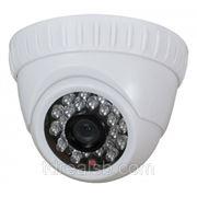 Купольная цветная видеокамера LiteVIEW LVDM-5001/012 с ИК-подсветкой фото