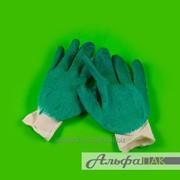 Перчатки х/б одинарный Облив, 10класс, 5-нитка фото