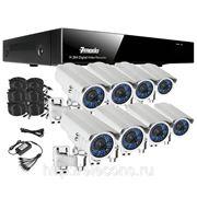 Полный комплект: 8-ми канальный DVR + 8 вариофокальных уличных CCD ИК-камер + кабели + 1Тб HDD фото