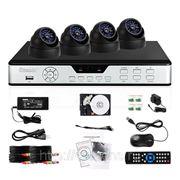 Полный комплект: 4-х канальный DVR + 4 внутренние CCD ИК-камеры + кабели + 500Гб HDD фото