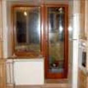 Балконные двери из натуральной древесины, заказать в Житомирской области. Двери. Окна, двери, перегородки фото