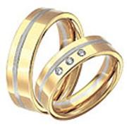 Комбинированные обручальные кольца фото