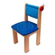 Детский деревянный стульчик (голубой) арт.42022BL фото