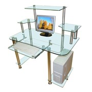 Компьютерные столы стеклянные
