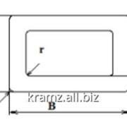 Профиль полый прямоугольный шифр 05/0005 B, мм 80 R mах, мм 0,5 площадь сечения - 6,84 фото