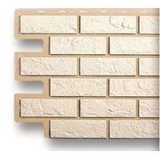 Цокольный сайдинг «Альта-профиль» — кирпич белый. фото