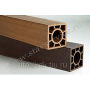 Столб заборный из древесно-полимерного композита 120х120 (мм) длина 3-6 (м) фото
