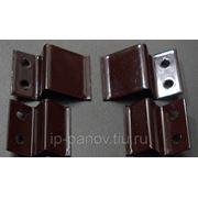 Металлические Z-образные Крепления Коричневые (верх-низ) для Москитной Сетки фото