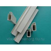 Профиль рамный 25 мм ПВХ для москитной сетки и профиль поперечный (импост) фото