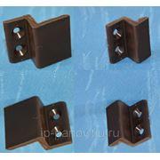 Пластиковые Z-образные Крепления (верх-низ) для Москитной Сетки Коричневые фото