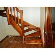 Изготовление лестницы из берёзы фото