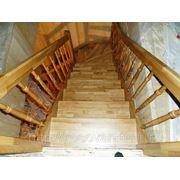 Изготовление лестницы из ясеня фото