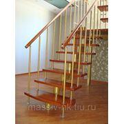 Лестница на металлокаркасе фото