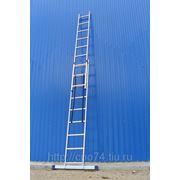 5212 Лестница двухсекционная универсальная алюминиевая фото