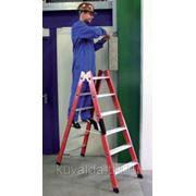 Лестница из стекловолокна KRAUSE 6 ступеней, двухсторонняя KRAUSE фото
