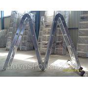 Лестница универсальная алюминиевая 4х3 ступени, мах Н=4,01м фото