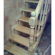 Деревянная лестница на заказ - эконом предложение! фото