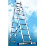 Алюминиевая двухсекционная лестница 6217 фотография